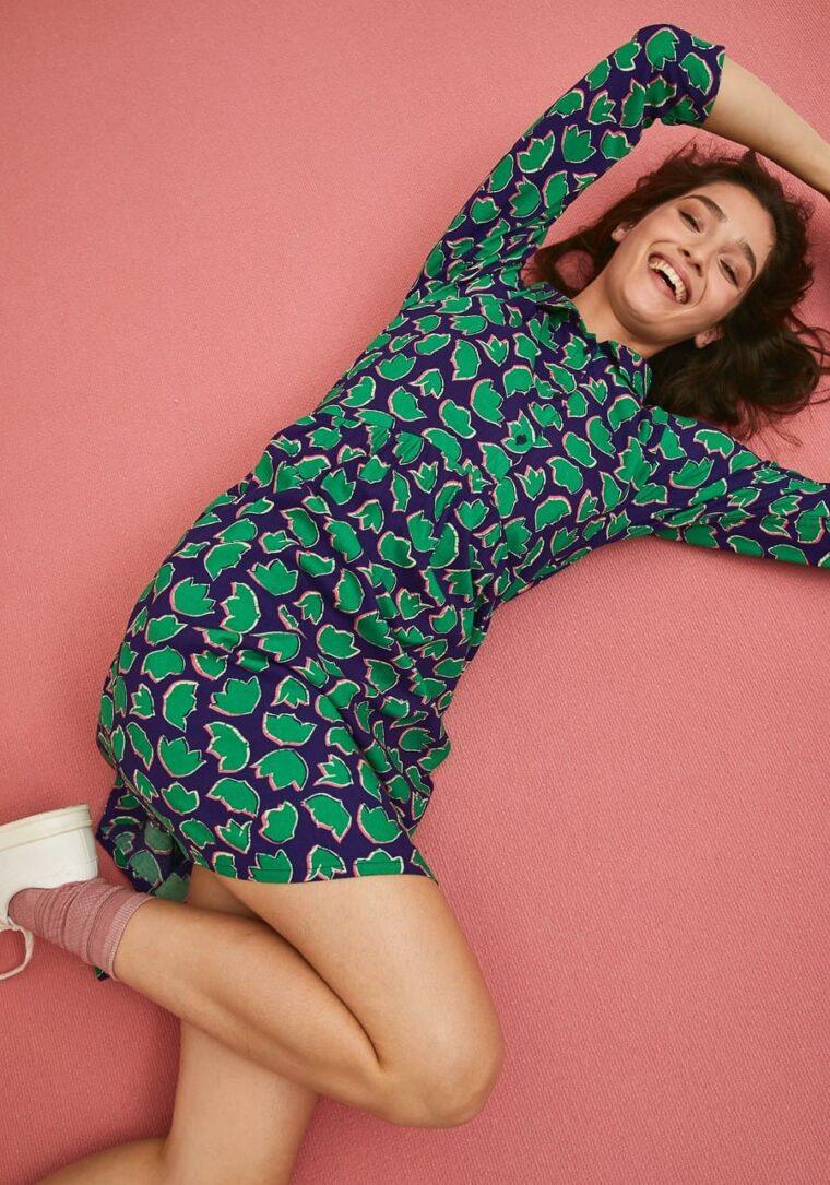 Φόρεμα Με Print Τουλίπες Compania Fantastica