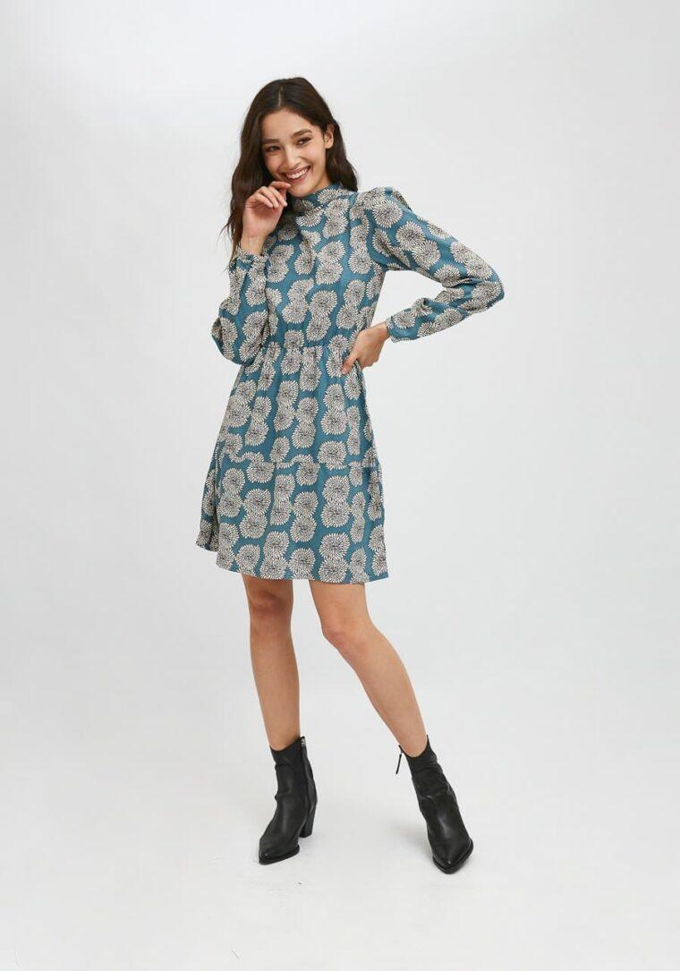 Mini Φλοράλ Φόρεμα με Print Χρυσάνθεμα Compania Fantastica