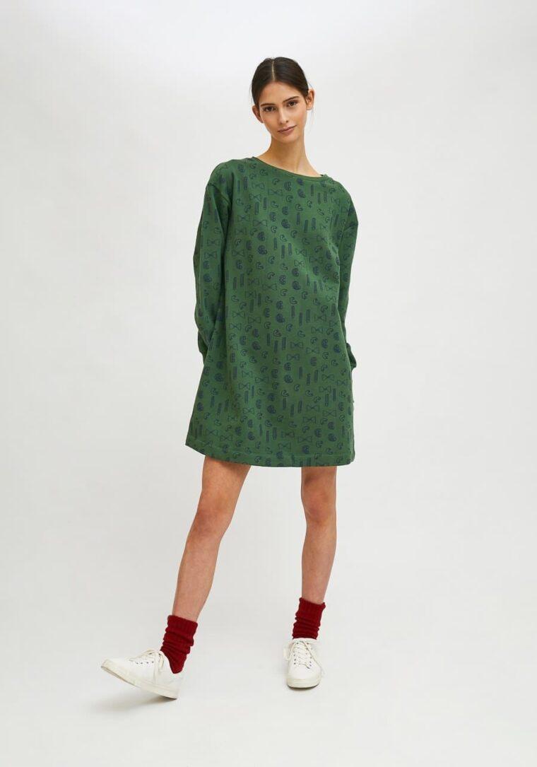 Βαμβακερό Φούτερ Φόρεμα Με Print Ζυμαρικά Compania Fantastica