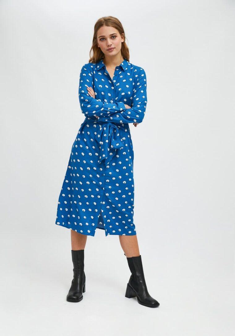 Πουκάμισο Φόρεμα Με Print Προβατάκια Compania Fantastica