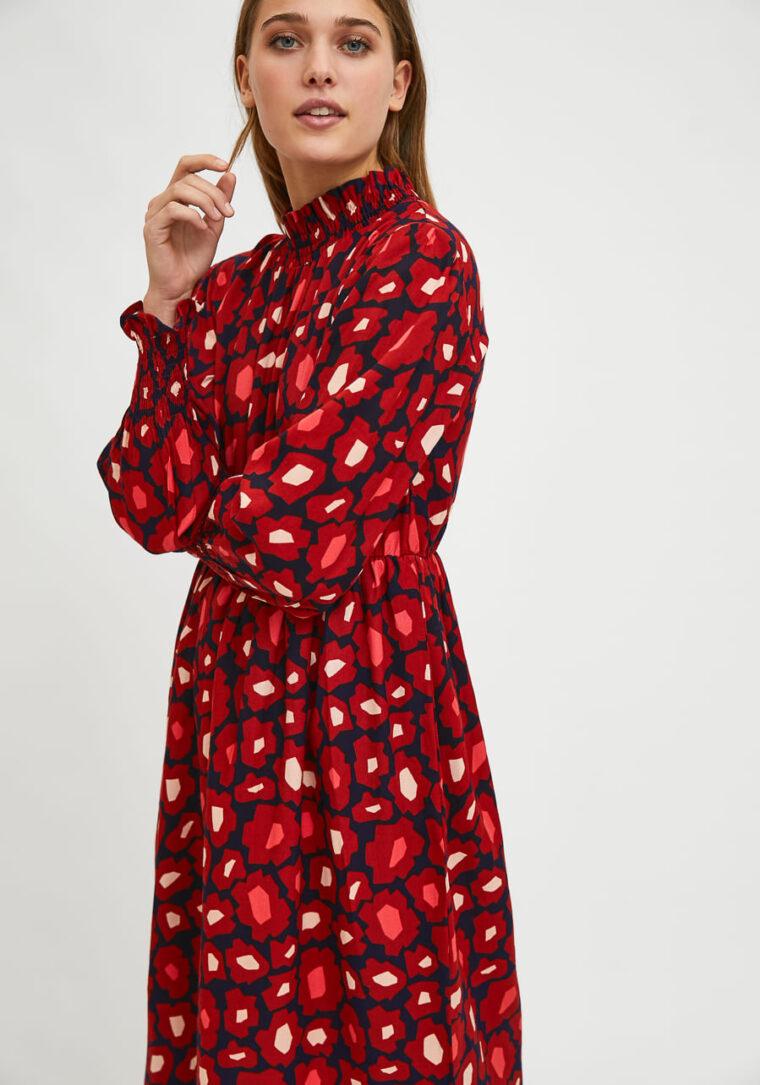 Midi Φόρεμα Με Φλοράλ Print Μεγάλα Λουλούδια Compania Fantastica